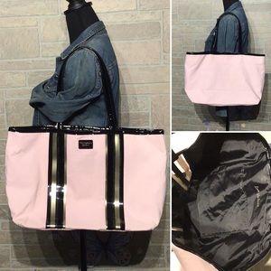 Victoria's Secret - large Tote pink shiny black